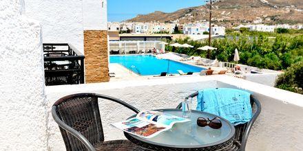 Dubbelrum på hotell Naxos Holidays i Naxos stad, Grekland.