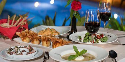Middag på hotell Naxos Magic Village på Naxos i Grekland.