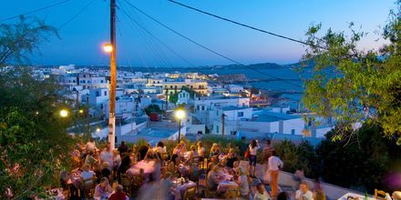 Taverna To Kastro i Naxos stad, Grekland.