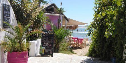St George-stranden på Naxos i Grekland.