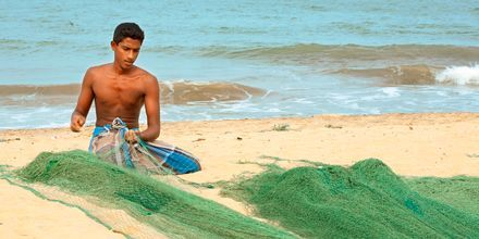 Fiskare i Negombo på Sri Lanka.