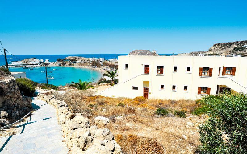 Hotell Neraida på Karpathos, Grekland.