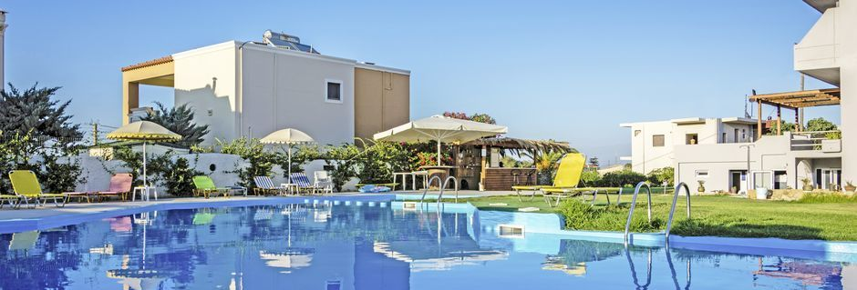 Pool på hotell Nereides i Kolymbari, Kreta.