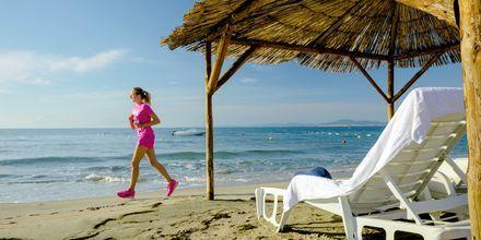 Strand i Nessebar, Bulgarien.