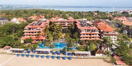 Strand på hotell Nikko Bali Benoa Beach i Tanjung Benoa, Bali.
