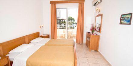 Enrumslägenhet på hotell Nicolas i Lardos på Rhodos, Grekland.