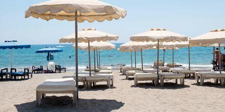 Stranden vid hotell Nikolas i Lardos på Rhodos, Grekland.