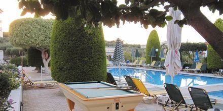 Biljardbord på hotell Nikolas Villas vid Hersonissos på Kreta.