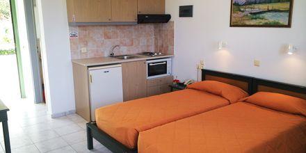 Enrumslägenhet på hotell Nikolas Villas vid Hersonissos på Kreta.