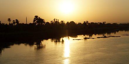 Solnedgång på Nilen.