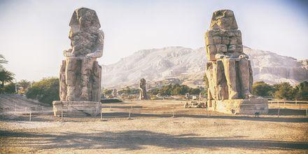 De imponerande Memnon-statyerna.