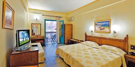 Dubbelrum på hotell Nireus på Symi, Grekland.