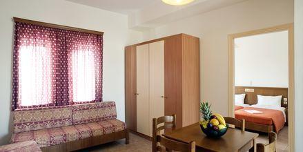 Tvårumslägenhet på hotell Nontas på Kreta, Grekland
