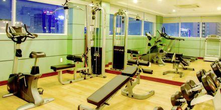 Gym på hotell Northern Saigon, Vietnam.
