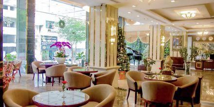Lobbyn på hotell Northern Saigon, Vietnam.