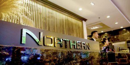 Receptionen på hotell Northern Saigon, Vietnam.