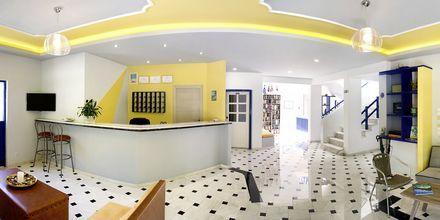 Reception på hotell Nostalgie i Georgiopolis, Kreta.