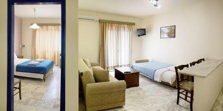 Tvårumslägenhet på hotell Nostalgie i Georgiopolis, Kreta.