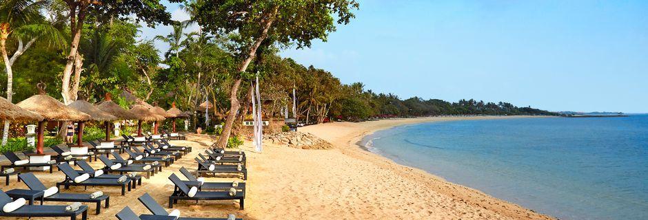 Stranden utanför Melia Bali Villas & Spa.