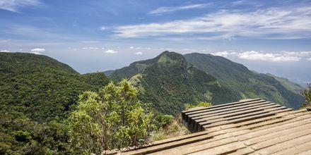 Världens ände i Horton Plains nationalpark nära Nuwara Eliya.