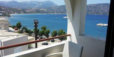 Utsikt från hotell Oceanis i Karpathos stad, Grekland.