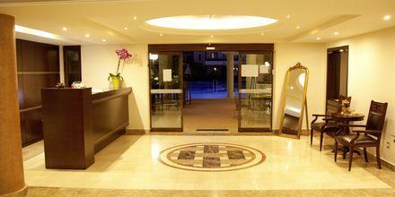 Receptionen på Okeanis Golden Resort, Kreta, Grekland.