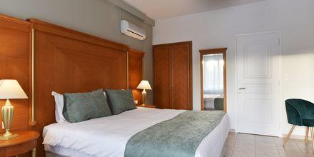 Dubbelrum på hotell Okeanis II på Kreta, Grekland.