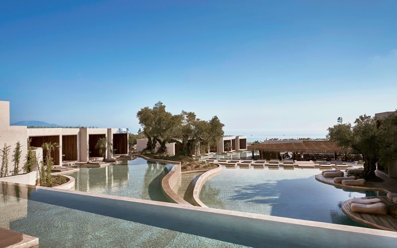 Hotell Olea All Suite i Tsilivi på Zakynthos, Grekland.