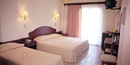 Ej renoverat dubbelrum på Olympic hotel på Parga, Grekland.