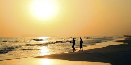 Solnedgång över Salalah i Oman.