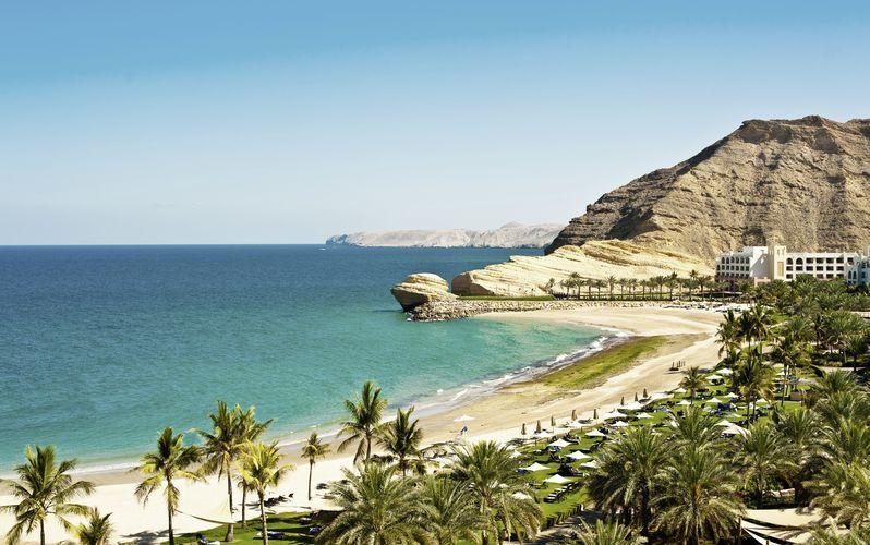 Omans vackra kust.