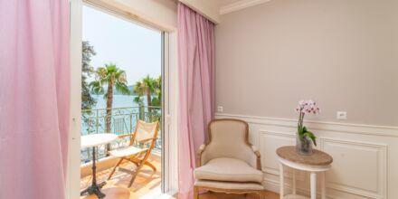 Dubbelrum på hotell Orion på Lefkas, Grekland.