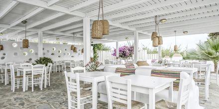 Snackbar på hotell Orkos Beach, Naxos.