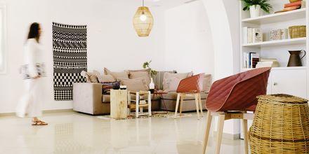 Lobby på hotell Orkos Beach, Naxos.