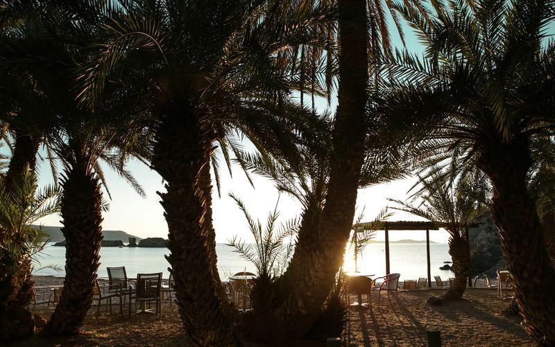 Strand i Palekastro på Kreta, Grekland.