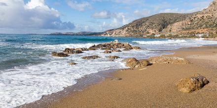 Sköna dopp i havet i Paleochora på Kreta.