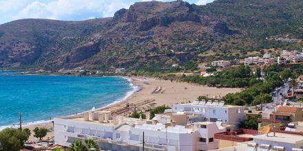Strand i Paleochora på Kreta, Grekland.