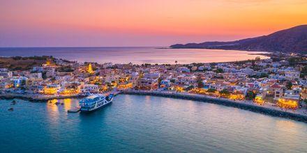 Kväll i Palechora på Kreta, Grekland.