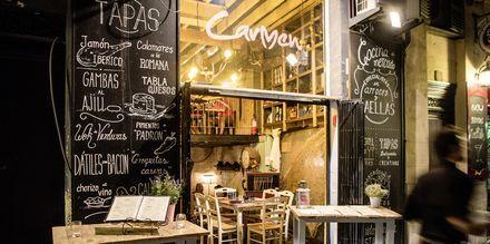 Restauranger och barer finns överallt i Palma.