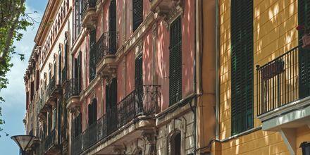 Vackra hus i Palma de Mallorca.
