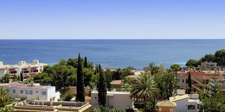 Vy över Palma Nova på Mallorca, Spanien.