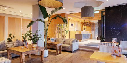 Lobby på hotell Palmera Beach & Spa på Kreta, Grekland.