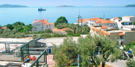 Utsikt från hotell Palmyra Studios på Skiathos