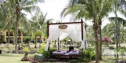 Njut av en härlig massage i grönskande omgivningar på hotell Pandanus Resort, Phan Thiet.