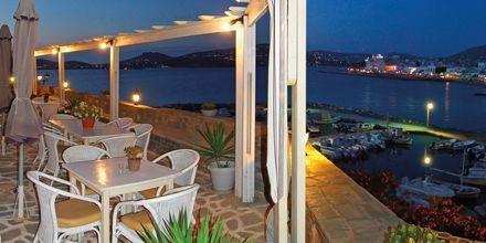 Restaurangen på hotell Pandrossos på Paros i Grekland.