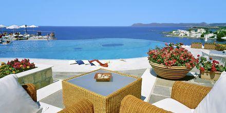 Pool på hotell Panorama i Kato Stalos på Kreta, Grekland.