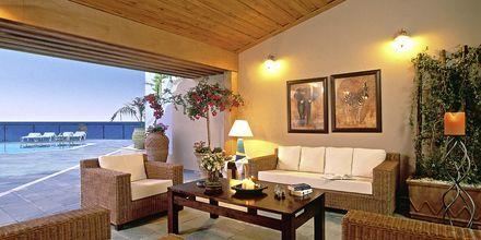 Lounge i på hotell Panorama i Kato Stalos på Kreta, Grekland.
