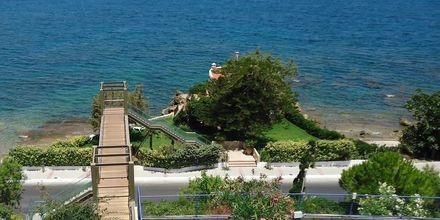Utsikt från hotell Panorama i Kato Stalos på Kreta, Grekland.