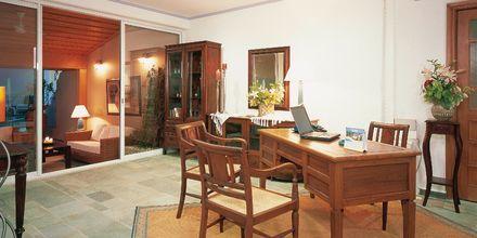 Mindre reception på hotell Panorama i Kato Stalos på Kreta, Grekland.
