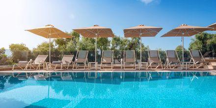 Poolen på hotell Panorama i Parga, Grekland.
